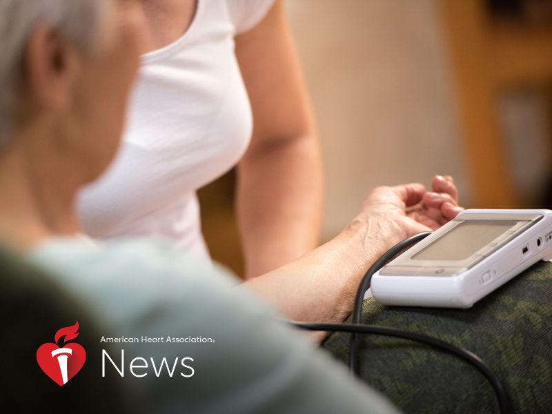 News Picture: AHA News: Dropping Blood Pressure May Predict Frailty, Falls in Older People