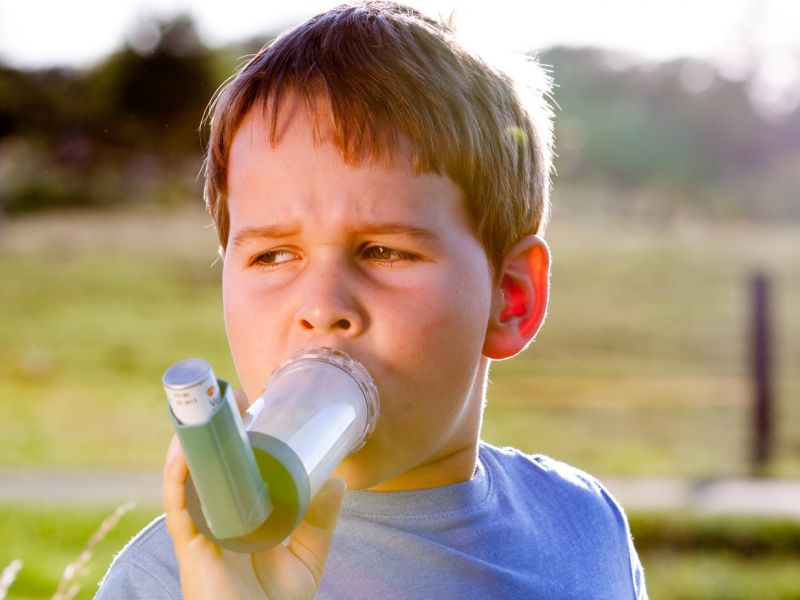 News Picture: Pick Summer Camps Carefully When Your Kid Has Allergies, Asthma