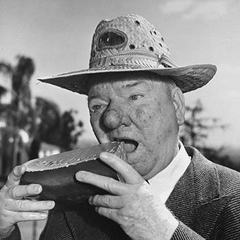 Famous comedian W.C. Fields suffered from rhinophyma.